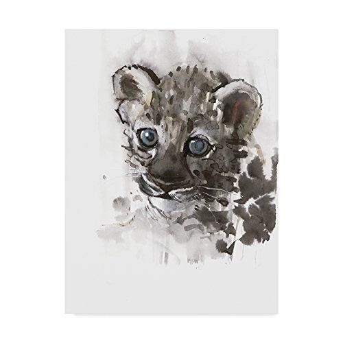 Trademark Fine Art Blue Eyes Arabian Leopard Cub by Mark Adlington, 18x24-Inch by Trademark Fine Art