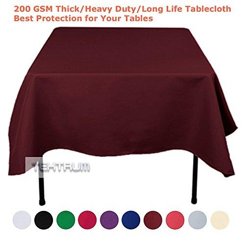 Burgundy Elegance Square Tablecloth (TEKTRUM 70 X 70 INCH 70