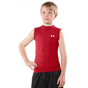 Boys' Sleeveless HeatGear® Compression T-Shirt II Tops by Under Armour