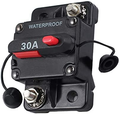 MASO 30 Amp Waterproof Car Circuit Breaker with Manual Reset Suitable for Motor Auto Car Marine Boat Bike Stereo Audio 12V-24V DC