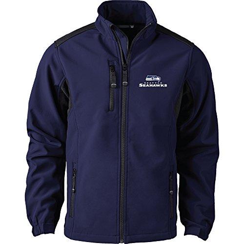 Dunbrooke Apparel NFL Seattle Seahawks Men's Softshell Jacket, 2X, Navy by Dunbrooke Apparel