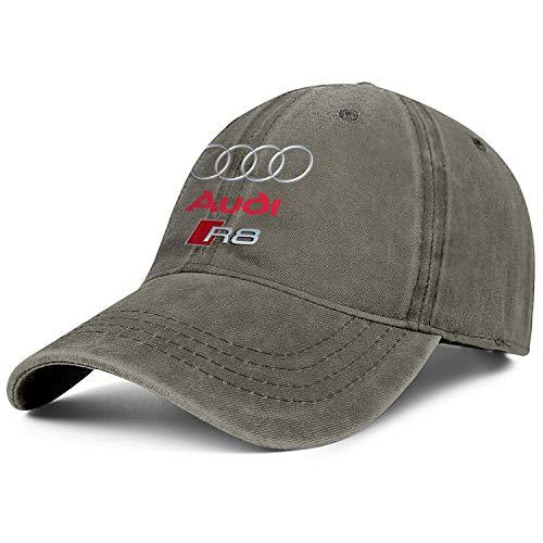 - Mens Womens Audi-R8-CAR-LOGO- Adjustable Vintage Golf Hats Baseball Washed Dad Hat Cap