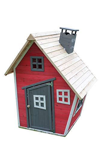 Toddlers Crooked Wooden Playhouse Painted