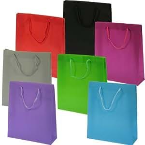Pack 48 Bolsas Regalo 27x23x8 Cm Colores Surtidos - Tamaño M (48 Pcs.)