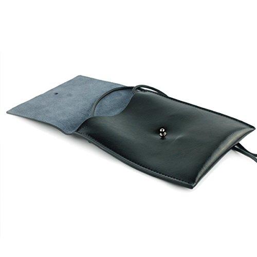 UER black Leather Purse Mini Bag Women's Minimalism Body Cross Split rS6Zrnqz