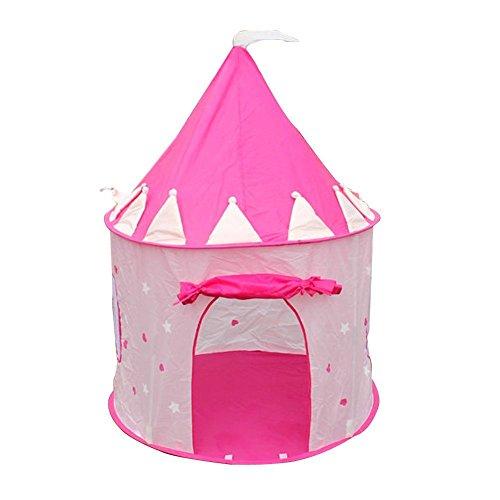 Spielzelt - TOOGOO(R)Tragbare Rosa Pop-Up Spiel-Zelt Kind Maedchen Prinzessin Schloss Outdoor Haus