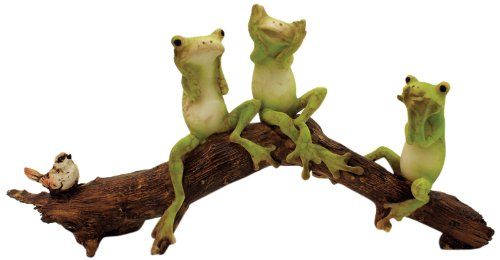 (Top Collection Enchanted Story Fairy Garden 3 No Evils Frogs Outdoor Statue)