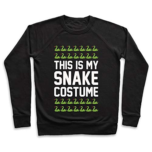 LookHUMAN This is My Snake Costume White Print Medium Black Unisex Crewneck Sweatshirt -