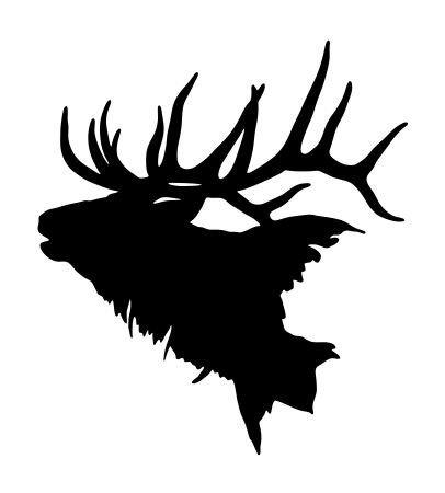 JS Artworks Elk Head Vinyl Decal Sticker - Decal Elk