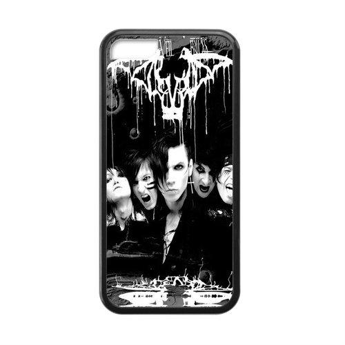 CTSLR Laser Technology Black veil Brides BVB TPU Case Cover Skin for Cheap Apple iPhone 5C-1 Pack- Black - 3 ()