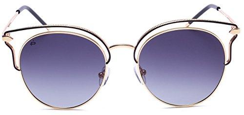 "PRIVÉ REVAUX ""The Heartbreaker"" Handcrafted Designer Cat-Eye Polarized Sunglasses For Women - Sunglasses Logo Without"