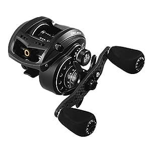 Abu Garcia MGX Revo - Carrete de pesca de lanzado, color negro, talla Revo Mgx-l Revo Mgx Lp