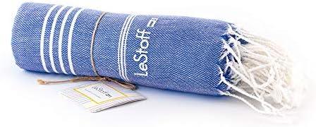 """Yoga Strandtuch Die nachhaltige Alternative f/ür Frottee Saunatuch LeStoff/"""" das traditionelle Hamamtuch Spa Sport Reisen Badetuch Das bessere Tuch. 50 x 100 cm, Sky Blue"""