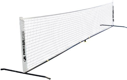 "Park & Sun Sports Portable Tennis Net Set with Carrying Bag and Accessories, 15' L x 32"" H"