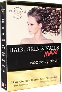 Max Purvana cheveux, peau et ongles Max 30 Gél. Caps.