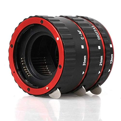 Lens Red Metal Mount Auto Focus Af Macro Extension Tube/Ring for Canon Ef-S Lens T5I T4I T3I T2I 100D 60D 70D 550D 600D 6D 7D