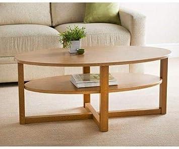 Milton Moderner Couchtisch Eiche Finish Ovale Form Mit 6403 Amazon