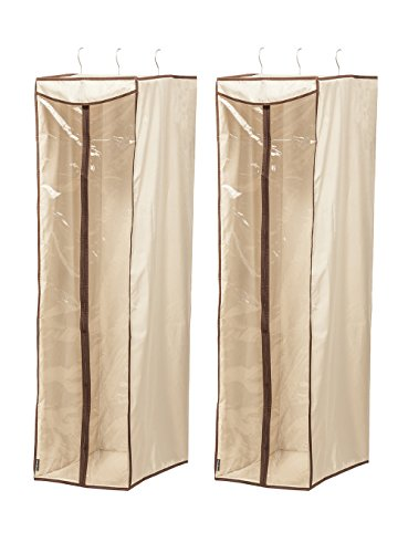 STORAGE MANIAC Hanging Garment Bag Cover with Visible Window, Garment Clothing Organizer, 2-Pack (Closet Bag Garment)