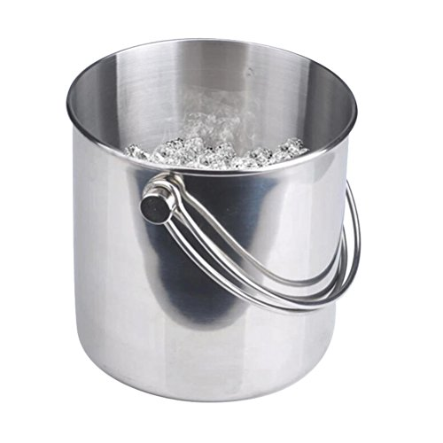 BESTONZON Premium Stainless Steel Ice Bucket with Strainer and Tong Beer Wine Champagne Cooler (2L) by BESTONZON (Image #9)