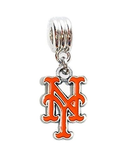 NY NEW YORK METS BASEBALL TEAM CHARM PENDANT FOR NECKLACE EUROPEAN CHARM BRACELET (Fits Most Name Brands) DIY ETC