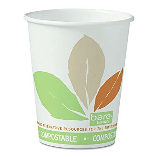 Solo 370PLA-J7234 10 oz Bare PLA Paper Eco-Forward Compostable Hot Cup (20 Packs of 50 (Pla Hot Cups)
