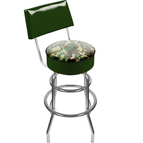 Cheap Hunt Camo Padded Swivel Bar Stool with Back