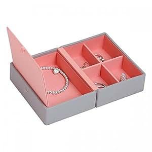 Amazon.com: Stackers | Jewelry Box | dove gray & coral