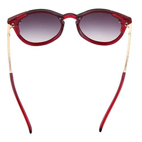 cada la de ojo Aviador tamaño moda compra amor mujeres solidario gran Clásico hombres un para Ogobvck regalo de sol UV400 – de por Rojo con de gafas f1Snq