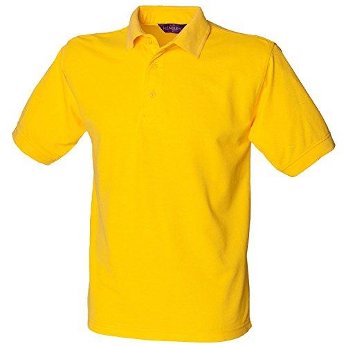 Henbury schwere Pique Polo Shirt H400gelb x-large