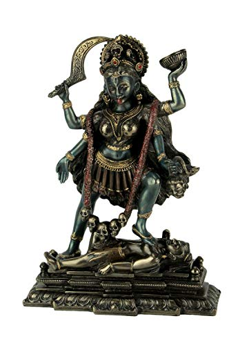 VERONESE Kali Standing on Shiva s Chest Statue Sculpture – Hindu Goddess of Time and Death Figurine