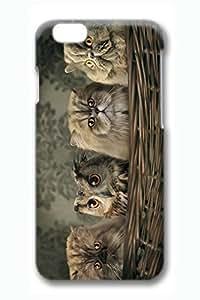 iPhone 6 Plus Case, iPhone 6 Plus Cover, iPhone 6 Plus (5.5 inch) Cats And Owl Hard Cases wangjiang maoyi