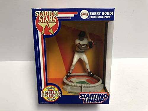 - 1994 Limited Edition Barry Bonds Stadium Stars San Francisco Giants Action Figure with Candlestick Park Base
