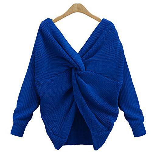 Femme Col Sweater Crois Sexy V Bliefescher RqtTdzd