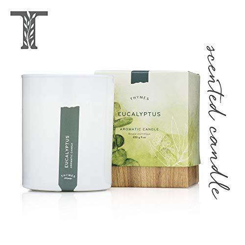 Thymes - Eucalyptus Aromatic Scented Candle - Long Lasting Scent with Gift Box - 9 oz
