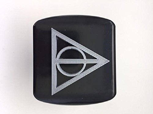 Deathly Triangle in 3D - 2 inch Trailer Hitch Cover Black with - 3d Trailer Harry Potter