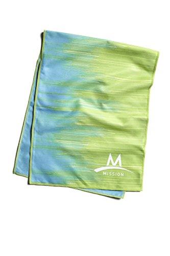 separation shoes 703c6 10a8d Mission Enduracool Microfiber Cooling Towel, Large, City Scape Teal Lime