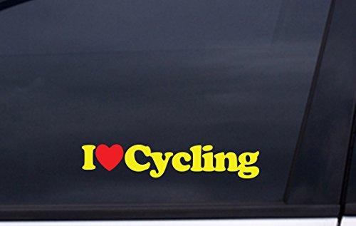 (I LOVE CYCLING vinyl decal 1.5