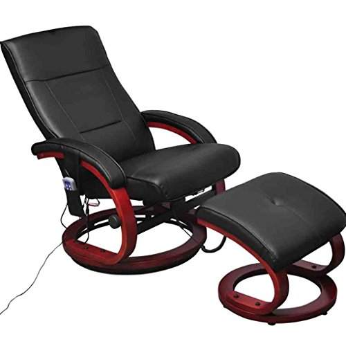10 Massage Nodes Electric TV Recliner Massage Chair with Footstool