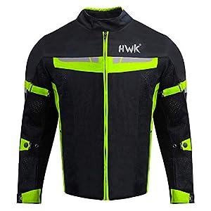 HWK Mesh Motorcycle Jacket Riding Air Motorbike Jacket Biker CE Armored Breathable