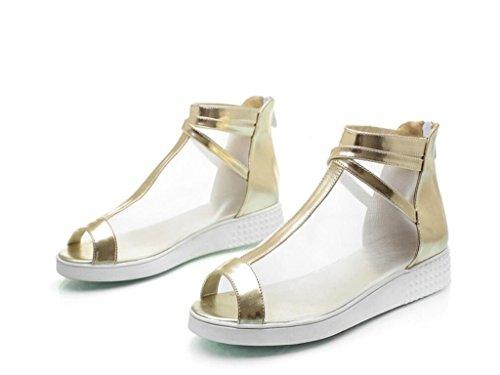 de Poisson Quotidien xie Shopping Bouche 39 Sandales Gold 41 3cm Confortable Chaussures école d'été 34 Dames Maille pp0qAY