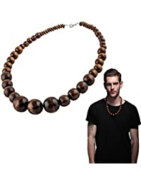 Wood Bead Necklace EVBEA Africa Wooden Chain Statement...