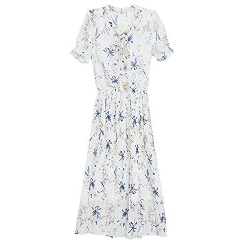 M White MiGMV Dame Floral de Robe Mousseline Robes Jupe w4xq0146f