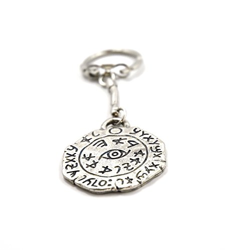 Safe Travel Drivers Keychain Amulet for Protection and Safety - King Solomon Seal -