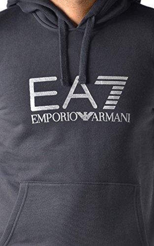 Emporio Armani, EA7, Visibility Line, Herren-Kapuzenpullover, schwarz
