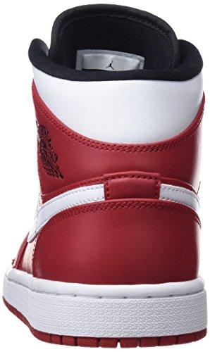 gym white Scarpe Jordan Da Red 1 Mid Nero Nike 605 Uomo Basket Air black qUAwPTTz