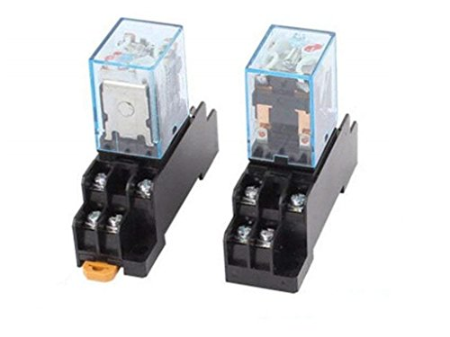 XJS Coil 8Pin DPDT Electromagnetic Power Relay w Socket Base 2 Pcs (AC220-240V) ()