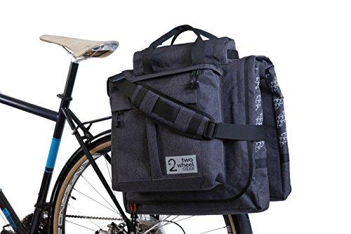 Two Wheel Gear - Classic 2.0 Garment Pannier - Waterproof Coated Premium Commuter Suit Bag (Graphite)