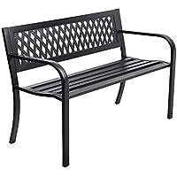 Outdoor Garden Bench Chair Seat Metal Terrace (B)