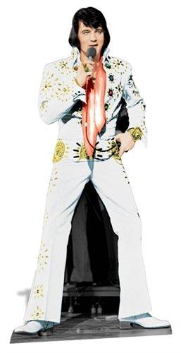 Elvis Stand - Elvis Presley Cardboard Cutout Life Size Standup White Jumpsuit SC573