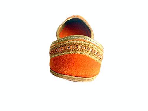 Women Khussa Rajasthani Punjabi Jutti Step Flat Style Pumps Shoes n Loafers Velvet Mojari gxEHZw